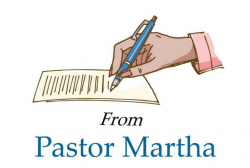 Time for the Sabbath, a letter from Pastor Martha
